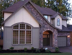 photo of a completed Peregrine home plan by Gertz Fine Homes